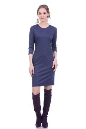 Трикотажное платье -водолазка