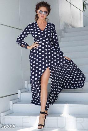 Струящееся платье-макси
