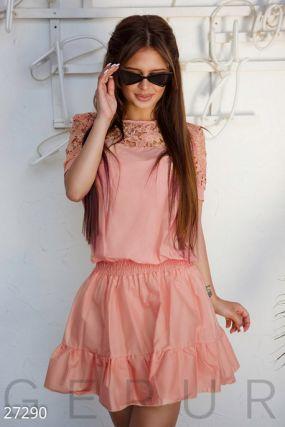 Короткое хлопковое платье