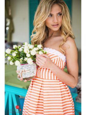 Платье SK-House, цвет оранжевый