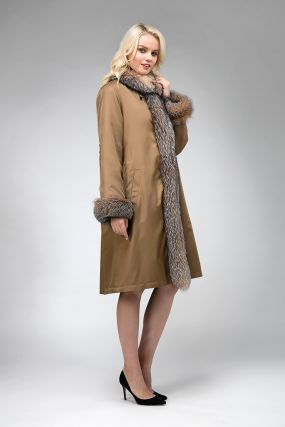 Женское зимнее пальто утепленное мехом