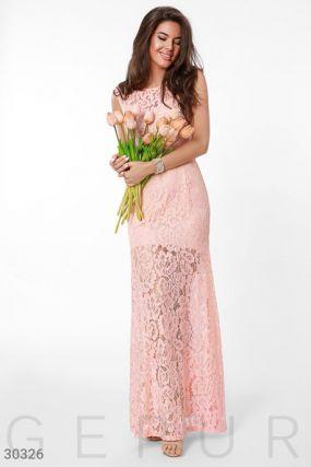 Гипюровое длинное платье