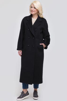 Двубортное осеннее шерстяное пальто с английским воротником