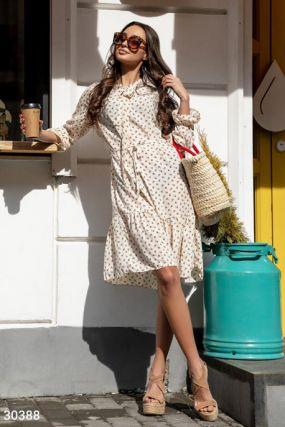 Повседневное платье с воланом