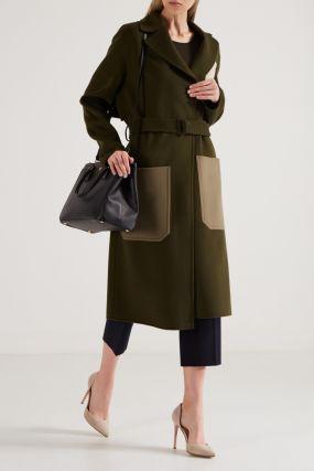 Зеленое пальто без подкладки
