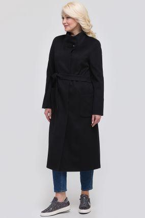 Стильное женское длинное пальто без меха