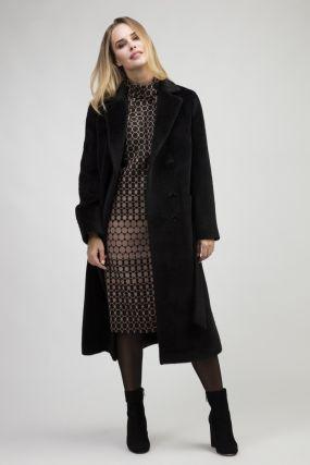 Классическое длинное женское пальто из альпака