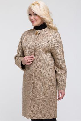 Женское весеннее шерстяное пальто-кокон