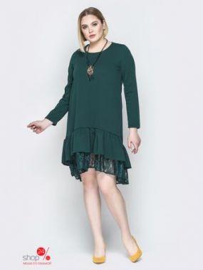 Платье Модный остров, цвет зеленый