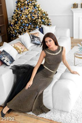 Блестящее платье-годе