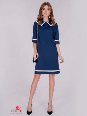 Платье Olga Skazkina, цвет темно-синий, белый