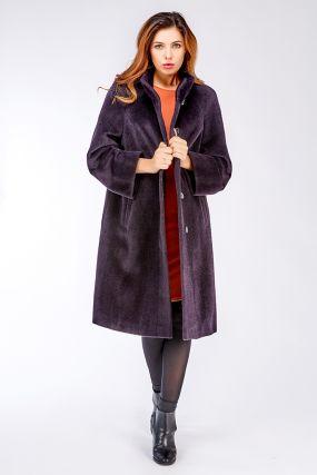 Длинное пальто реглан из альпака российского производства