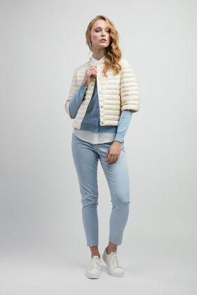 Женская куртка укороченная на пуху от марки ADD