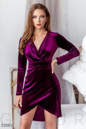 Бархатное платье-мини