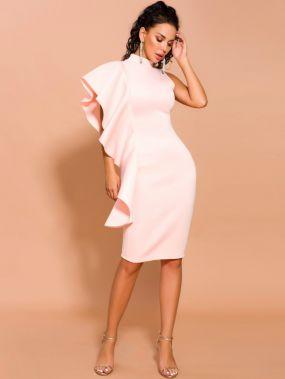 Missord платье-карандаш с воротником-стойкой и оборками