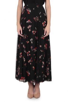 Пышная черная юбка с узором