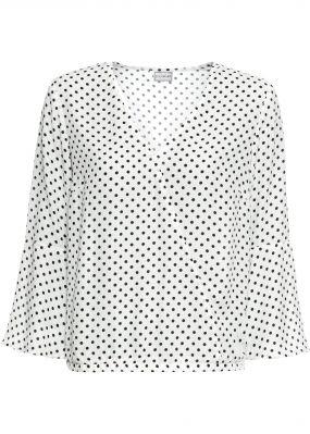 Блузка с запахом в горошек