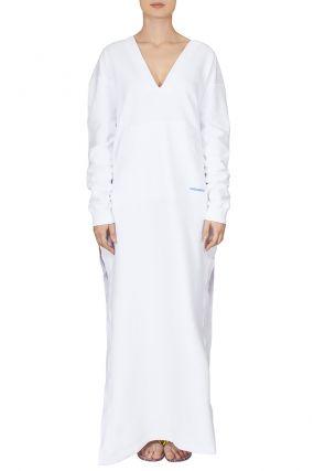 Белый халат с капюшоном