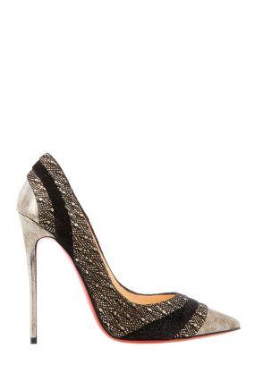 Серебристые туфли Eklectica 120