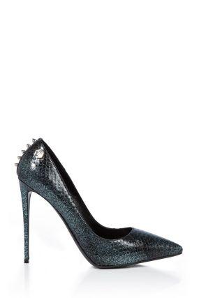 Туфли с глиттером и шипами