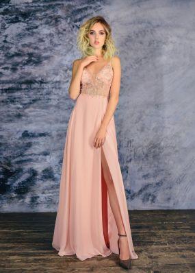 Вечернее платье с разрезом MC0120B