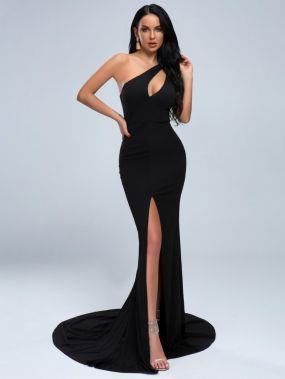 Missord длинное платье на одно плечо с разрезом