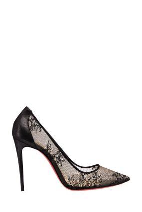 Черные туфли с кружевом Lace 554 100