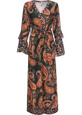 Платье макси с воланами