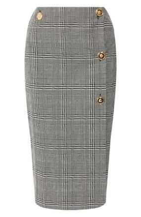Шерстяная юбка Versace