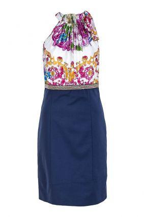 Комбинированное платье с цепочками