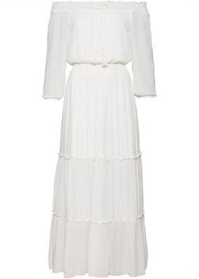 Платье макси с вырезом кармен