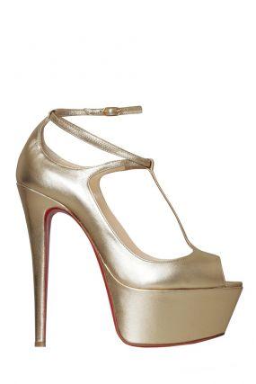 Туфли из металлизированной кожи Talitha 160