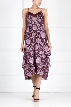 Шелковое платье Justina