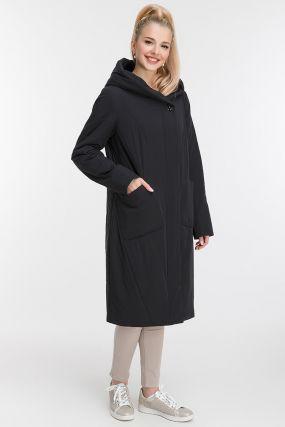 Длинное утепленное пальто для осени