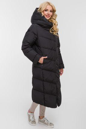 Зимний финский длинный пуховик с капюшоном