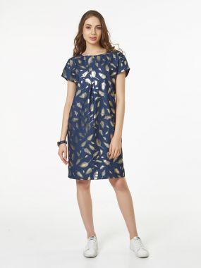 Стильное платье из тонкой джинсы