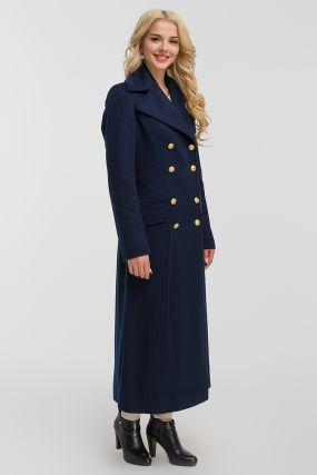 Итальянское длинное приталенное пальто из шерсти