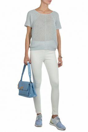 Белые брюки скинни