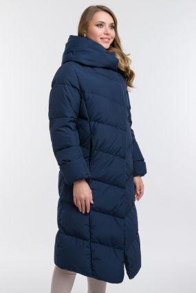 Длинный зимний пуховик из Финляндии с капюшоном