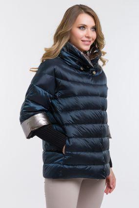 Женская пуховая куртка осень-зима с капюшоном
