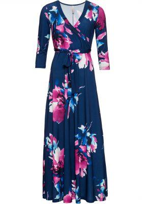 Платье макси с цветочным рисунком