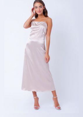 Длинное платье на бретельках 190772B
