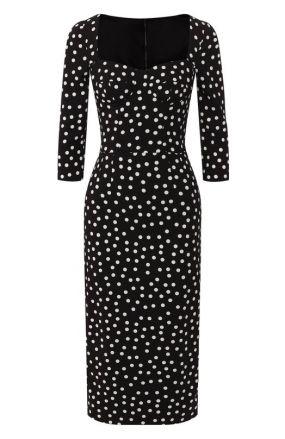 Платье в горох Dolce & Gabbana