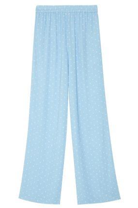 Голубые брюки в горох