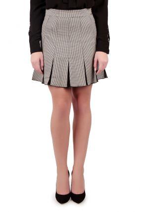 Клетчатая юбка со складками