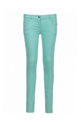 Голубые джинсы-скинни