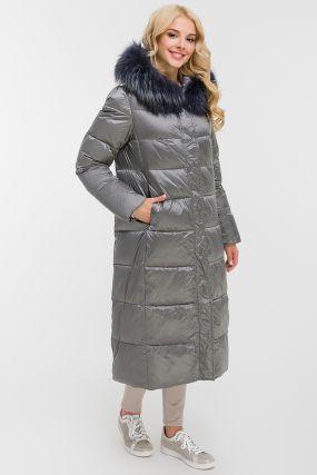 Длинное женское пальто осень-зима с капюшоном