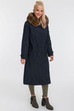 Стильное зимнее пальто из Италии на меху кролика