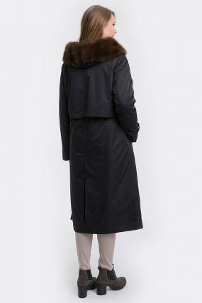 Длинное пальто парка для зимы