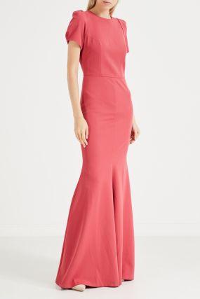 Платье-годе без воротника